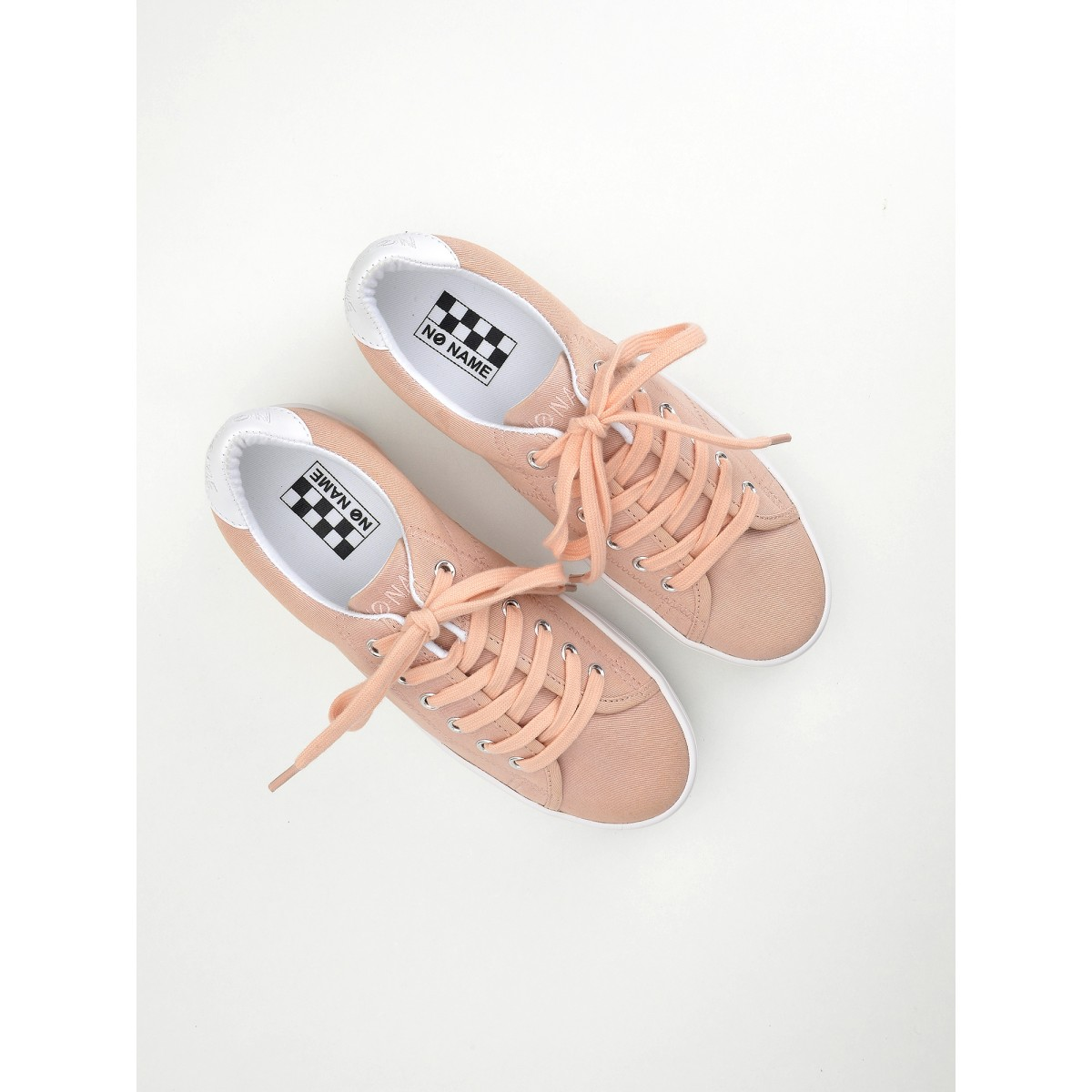 No Name PLATO SNEAKER - CANVAS - DRAGEE FOX WHITE