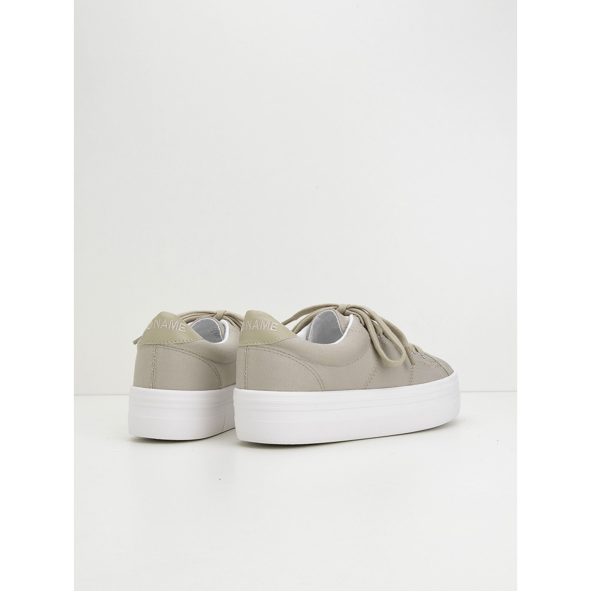 No Name PLATO SNEAKER - CANVAS - BEIGE FOX WHITE