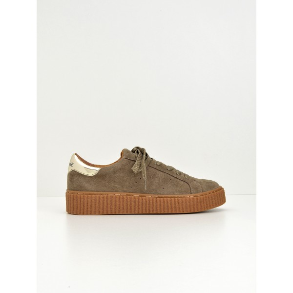 NO NAME PICADILLY SNEAKER - SUEDE - DUNE SOLE MASTIC