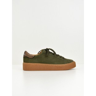 PICADILLY SNEAKER - SUEDE - FOREST SOLE MASTIC