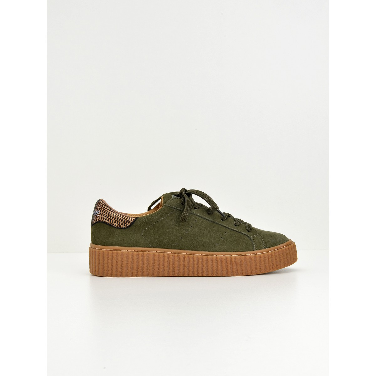 No Name Picadilly Sneaker - Suede - Forest
