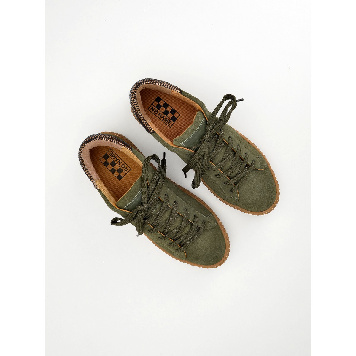 No Name PICADILLY SNEAKER - SUEDE - FOREST SOLE MASTIC