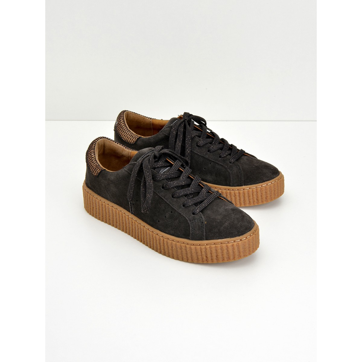No Name Picadilly Sneaker - Suede - Ardoise