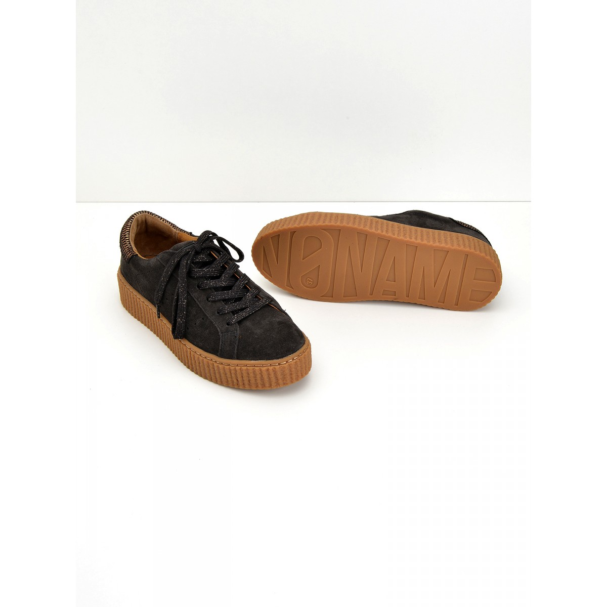No Name PICADILLY SNEAKER - SUEDE - ARDOISE SOLE MASTIC