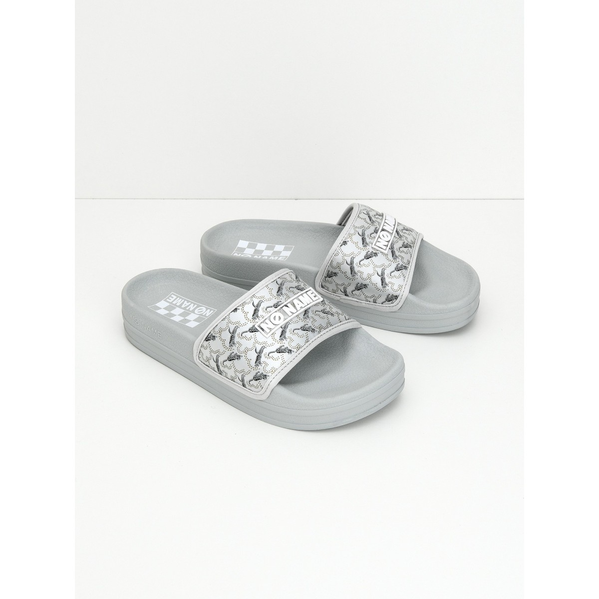 No Name Jungle Slap - Print Tiger - Light Grey
