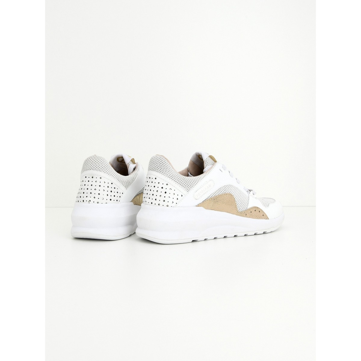 No Name Sono Trainer - Goat Suede - White