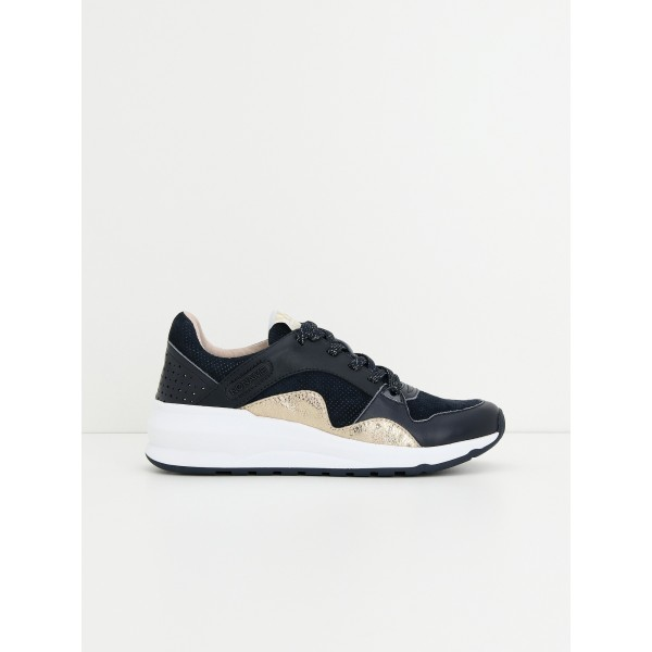NO NAME Sono Trainer - Goat Suede - Navy