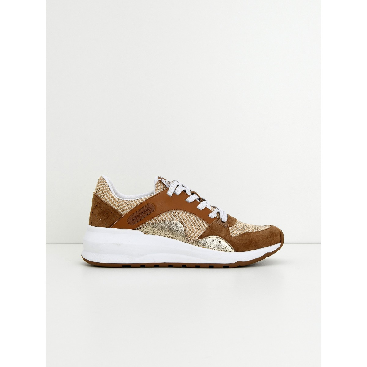 No Name Sono Trainer - Goat Suede/Nat - Sable/Tabac