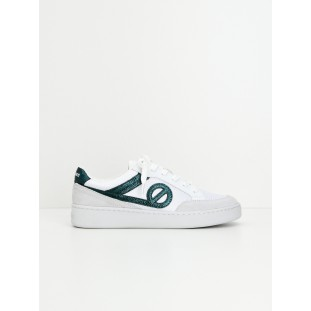 Game Basket - Suede/Aquadilla - White/Emeraude