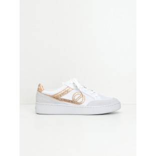 Game Basket - Suede/Aquadilla - White/Pink