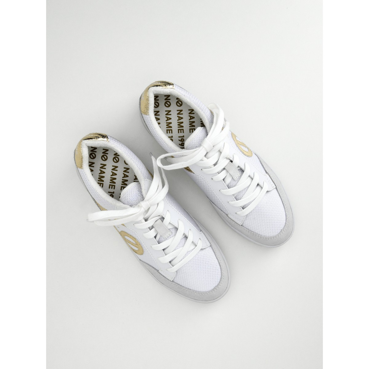 No Name Game Basket - Suede/Aquadilla - White/Light Gold