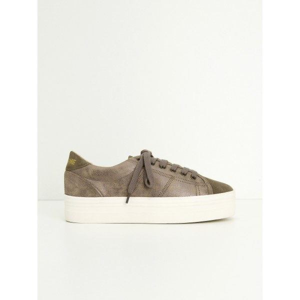NO NAME PLATO SNEAKER - SUEDE/GLOOM - ANTILOP/WOOD