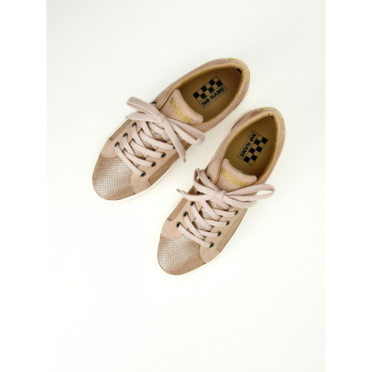 No Name PLATO BRIDGE - ALL STAR/SUEDE - PINK/POUDRE
