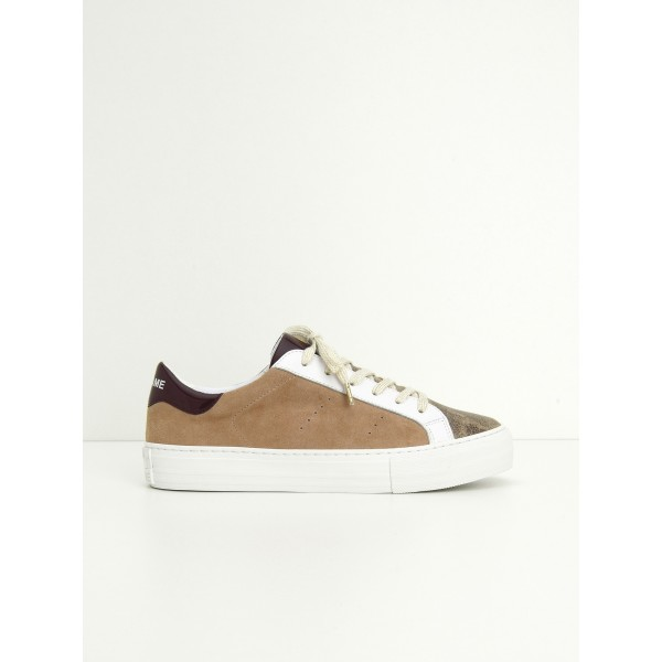 NO NAME ARCADE SNEAKER - GLOOM/G.SUEDE - WOOD/DRAGEE