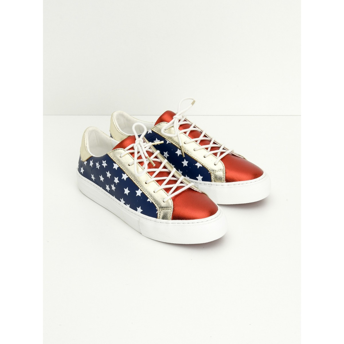 No Name ARCADE SNEAKER - WONDER - BLUE/RED/GOLD
