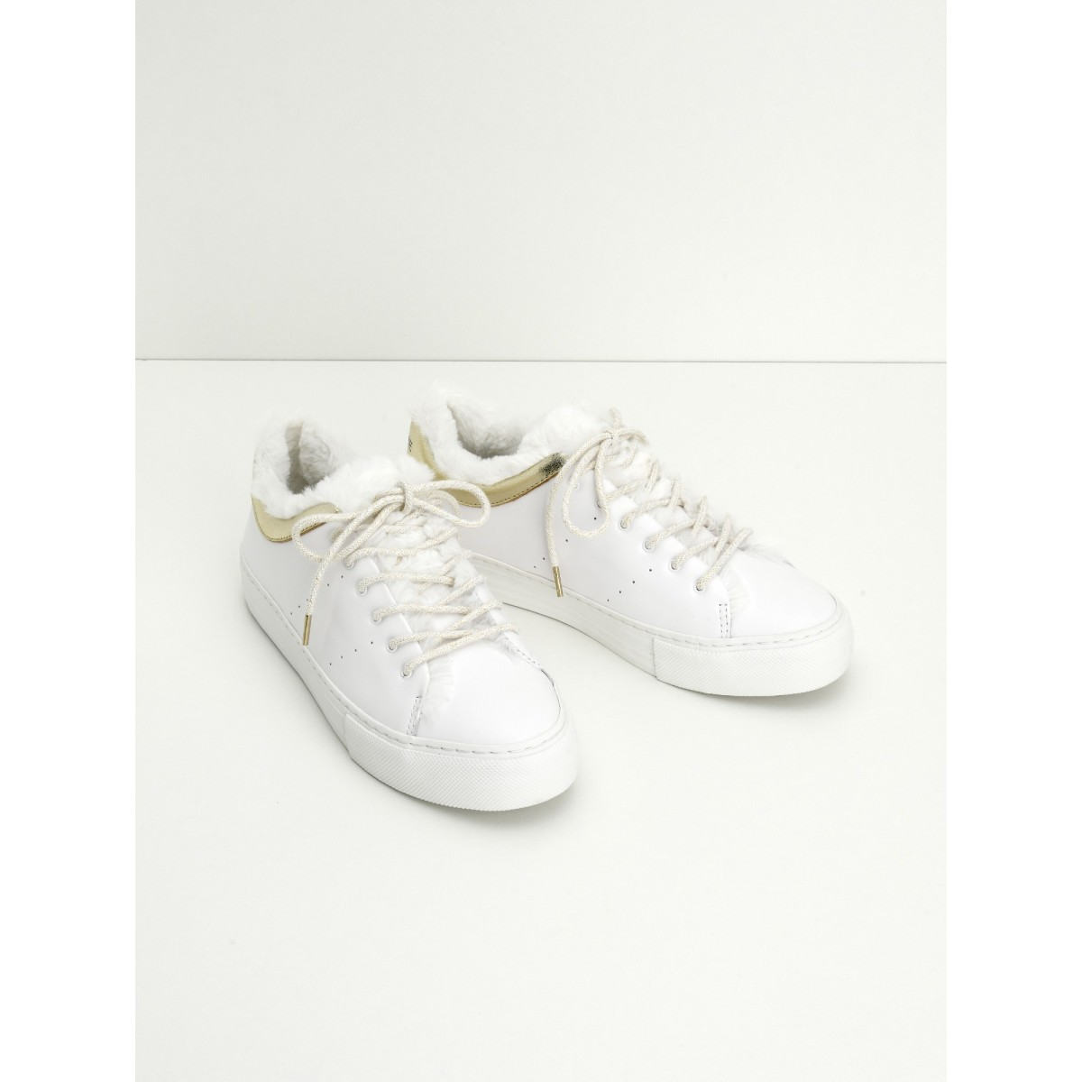 No Name ARCADE FUR SNEAKER - ALTEZZA/MERCURE - WHITE/GOLD