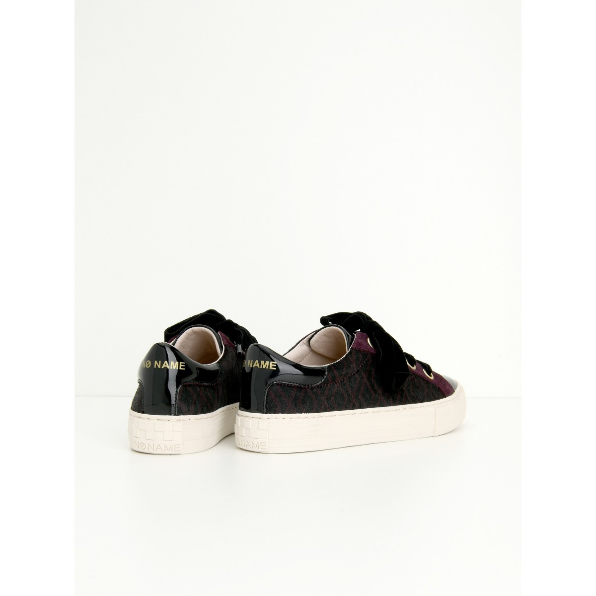 No Name ARCADE NEXT - PATENT/ZOO - BLACK/BURGUNDY