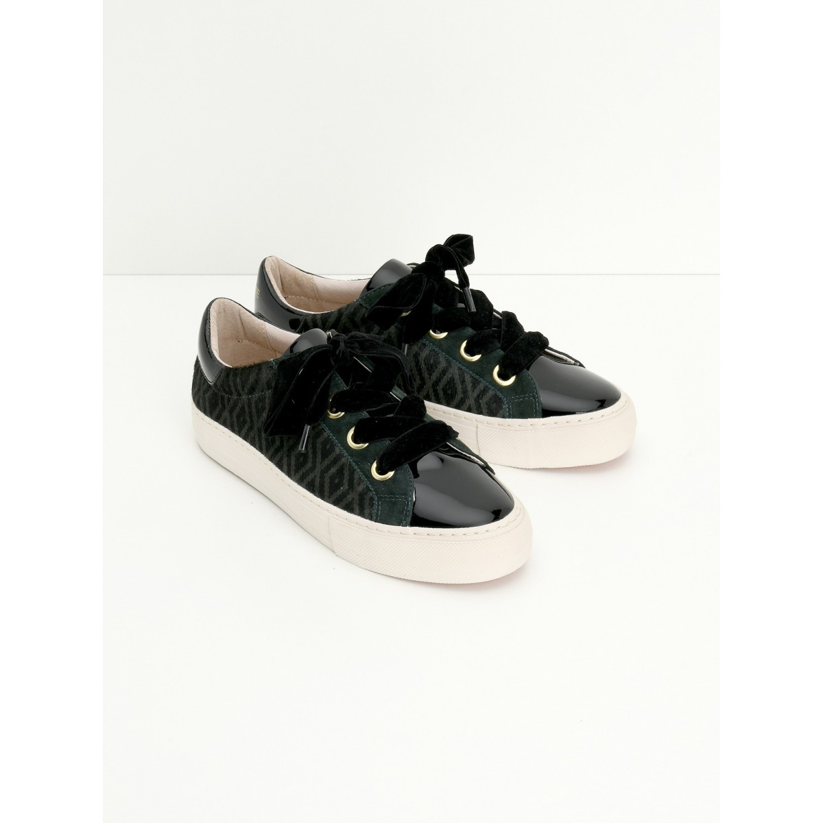 No Name ARCADE NEXT - PATENT/ZOO - BLACK/CEDRE