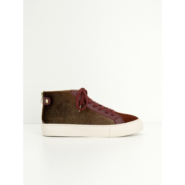 NO NAME ARCADE BACK ZIP - PODIUM/G.SUEDE - BRONZE/RUST