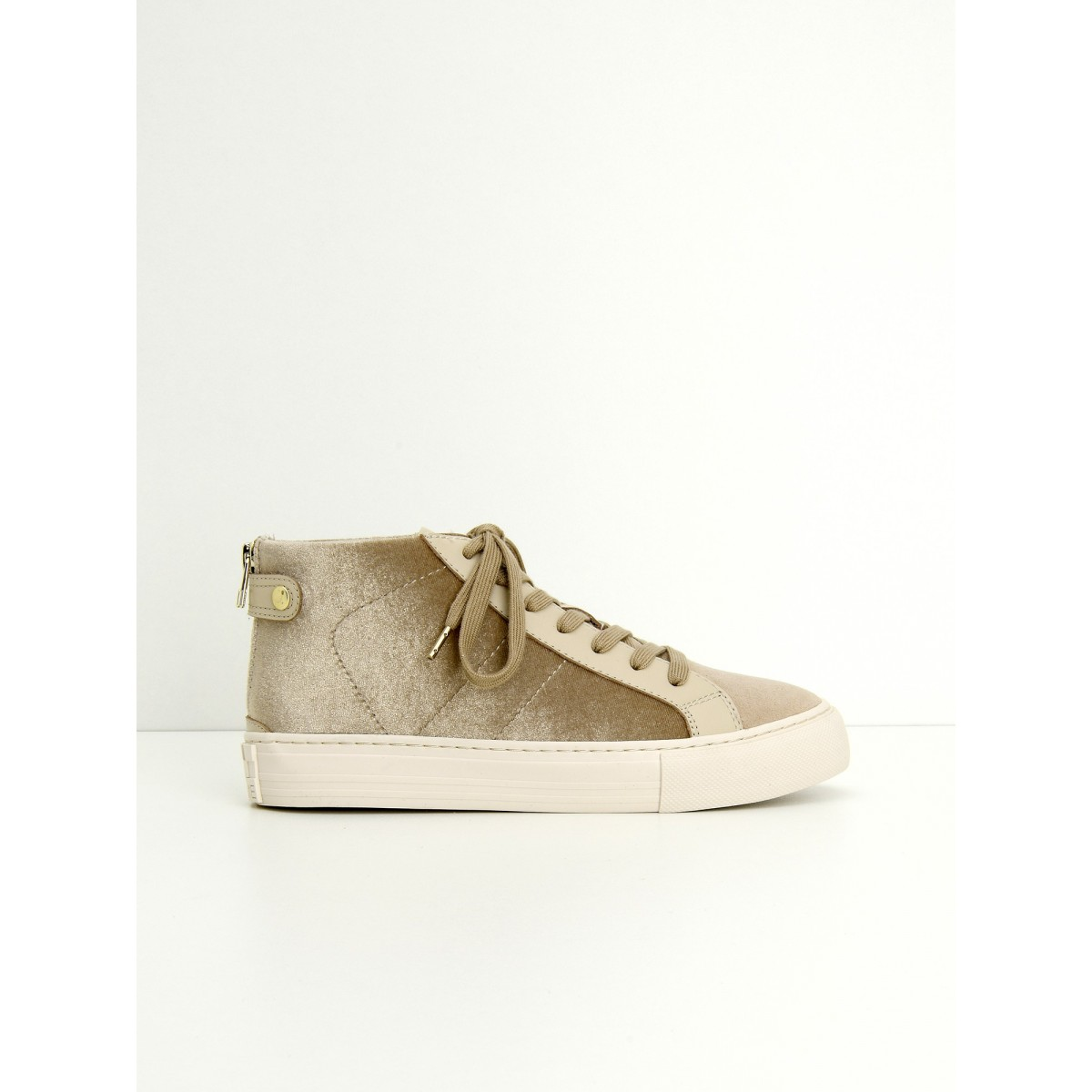 No Name ARCADE BACK ZIP - PODIUM/G.SUEDE - GOLD/COTON
