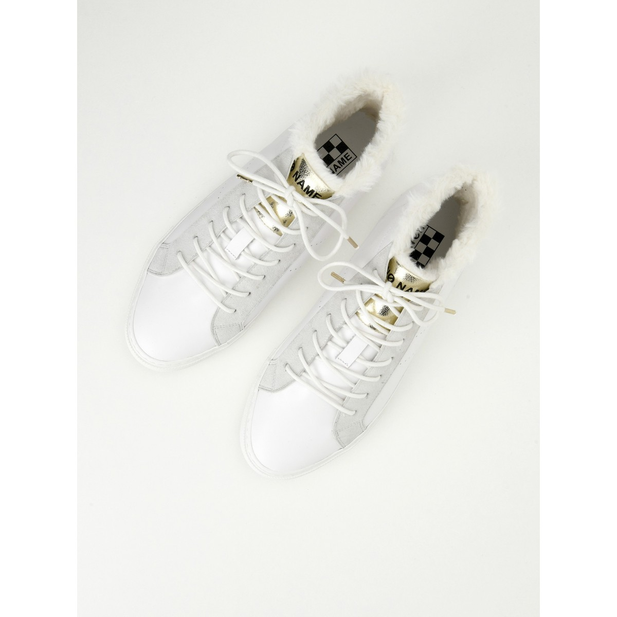 No Name ARCADE MID FUR - ALTEZZA/FUR - WHITE/DOVE