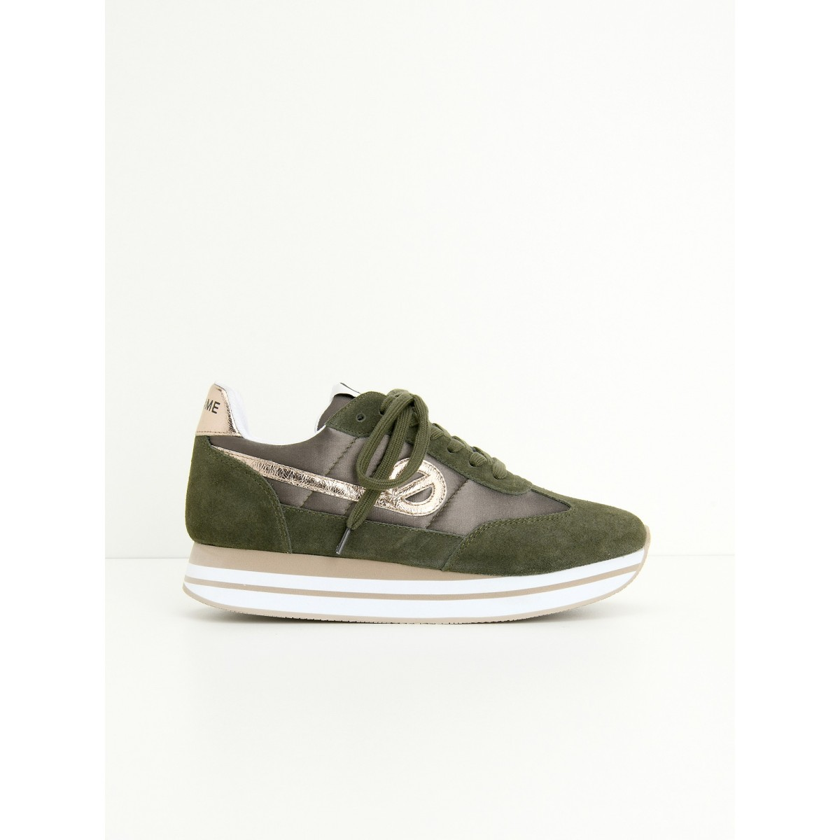 No Name EDEN JOGGER - BEAM/SUEDE - FOREST/FOREST