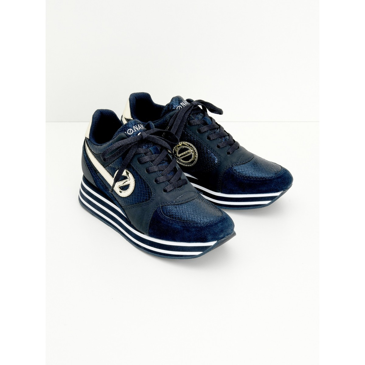 No Name PARKO JOGGER - LADY/SUEDE - NAVY/NAVY