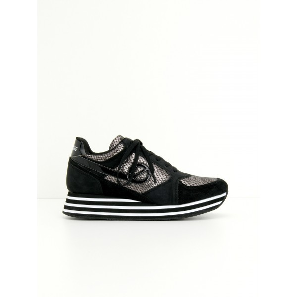 NO NAME PARKO JOGGER - LADY/SUEDE - ARDOISE/BLACK
