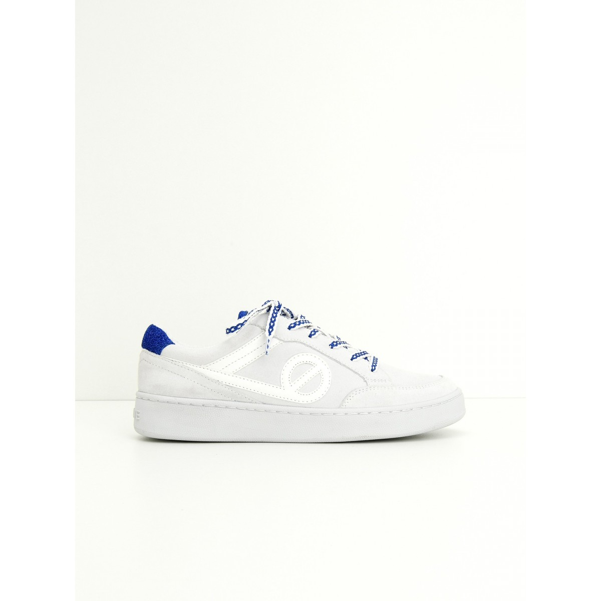 No Name GAME BASKET - SUEDE/PARADISIO - WHITE/NAVY