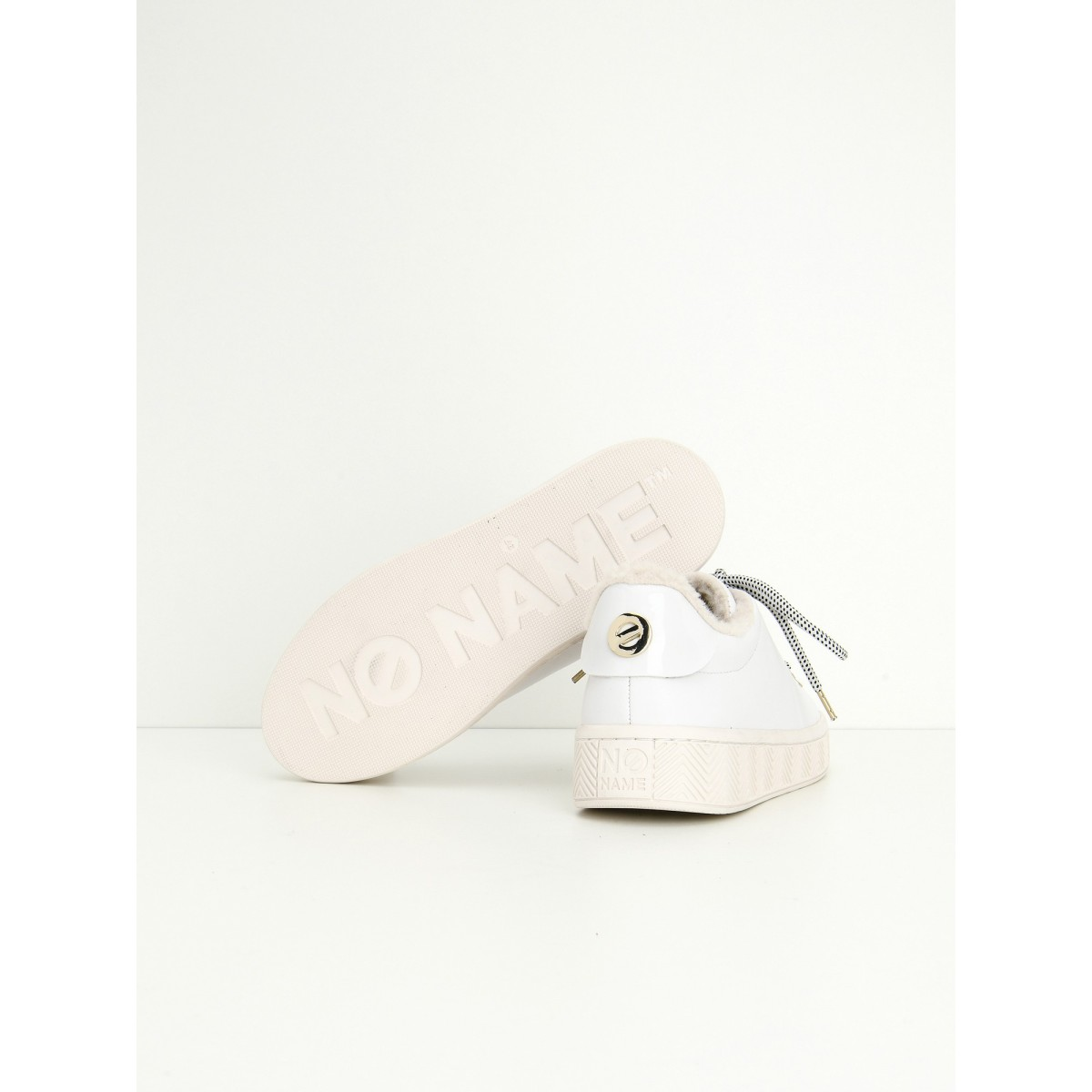 No Name GINGER SNEAKER - ALTEZZA/FUR - WHITE/WHITE