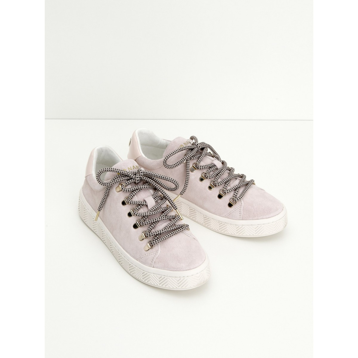 No Name GINGER SNEAKER - SUEDE - POUDRE SOLE WHITE