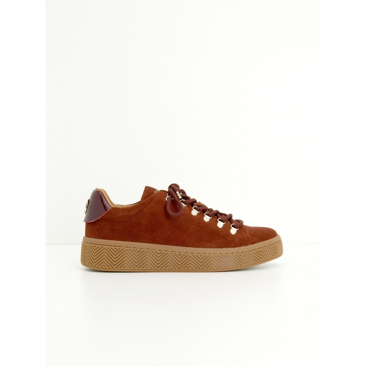 No Name GINGER SNEAKER - SUEDE - RUST SOLE MASTIC