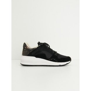 SONO TRAINER - G.SUEDE/PURSE - BLACK/BLACK