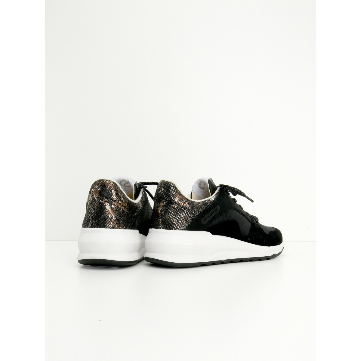 No Name SONO TRAINER - G.SUEDE/PURSE - BLACK/BLACK