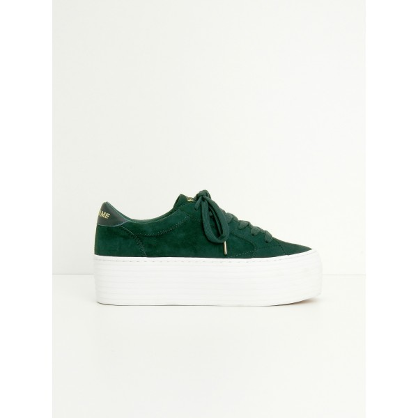 NO NAME SPICE SNEAKER - GOAT SUEDE - SAPIN