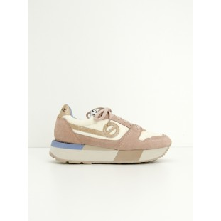 BODY JOGGER - BIG NYLON/SUEDE - DOVE/POUDRE
