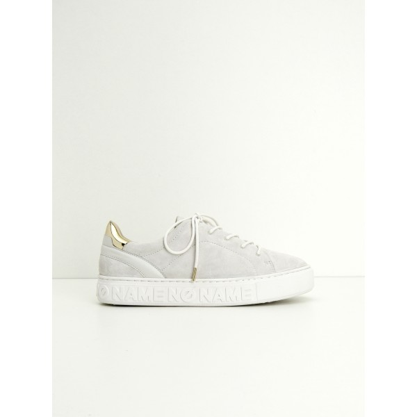 NO NAME BLAZE SNEAKER - GOAT SUEDE - WHITE SOLE WHITE