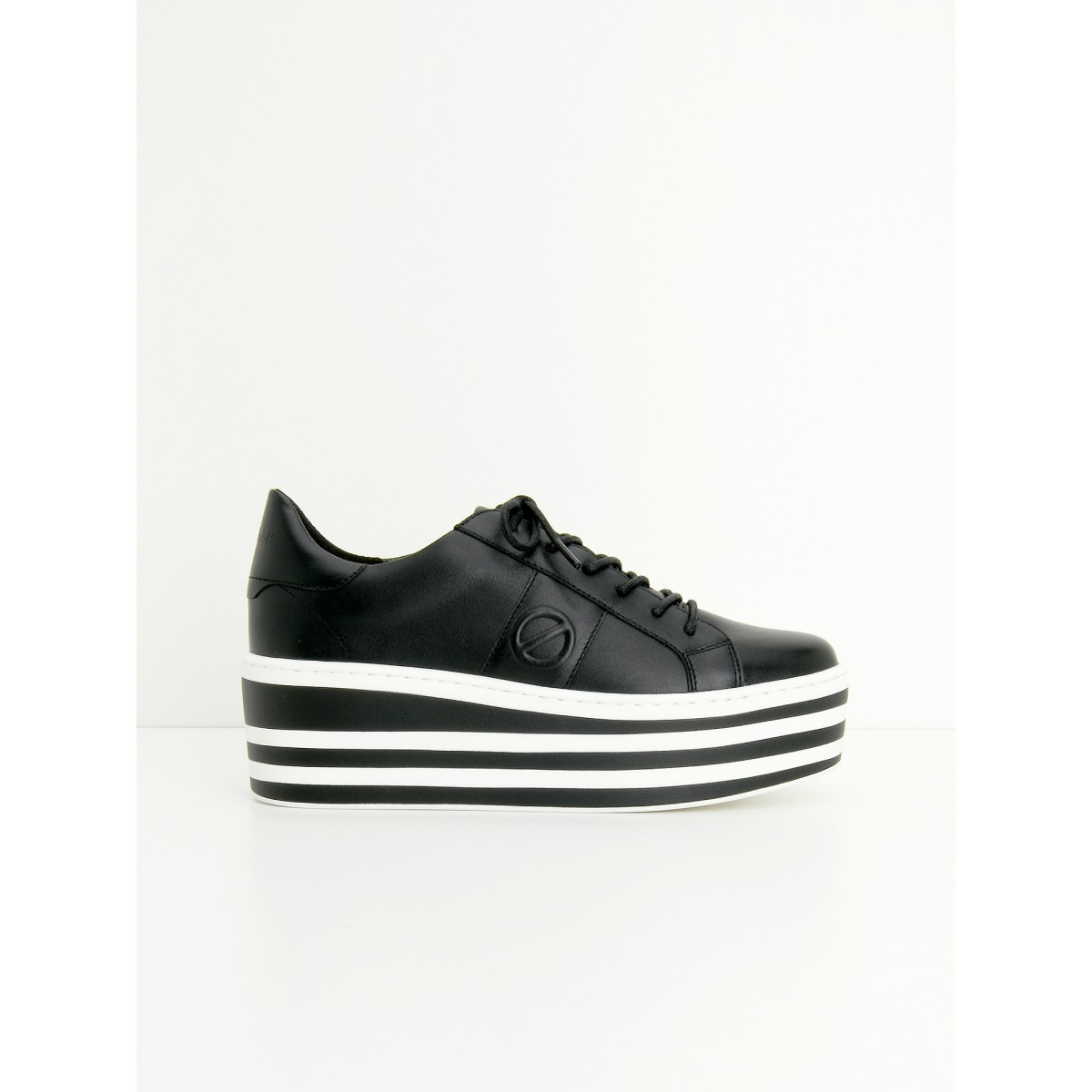 No Name BOOST SNEAKER - SOFT NAPPA - BLACK