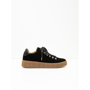 Ginger Sneaker - Suede - Black Sole Mastic