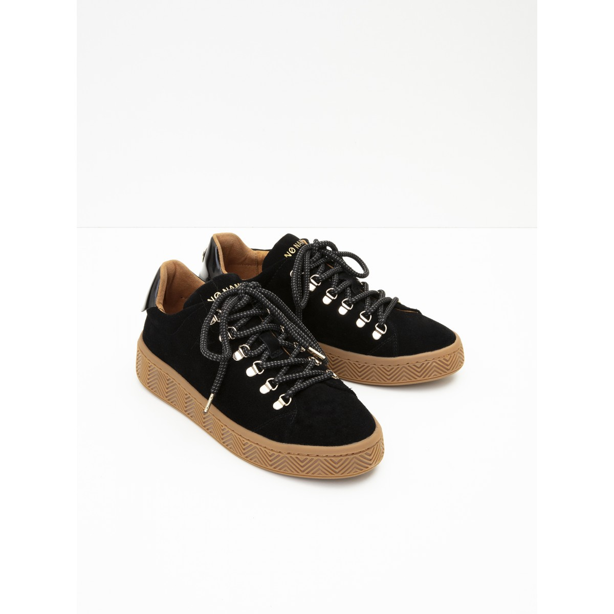 No Name Ginger Sneaker - Suede - Black Sole Mastic