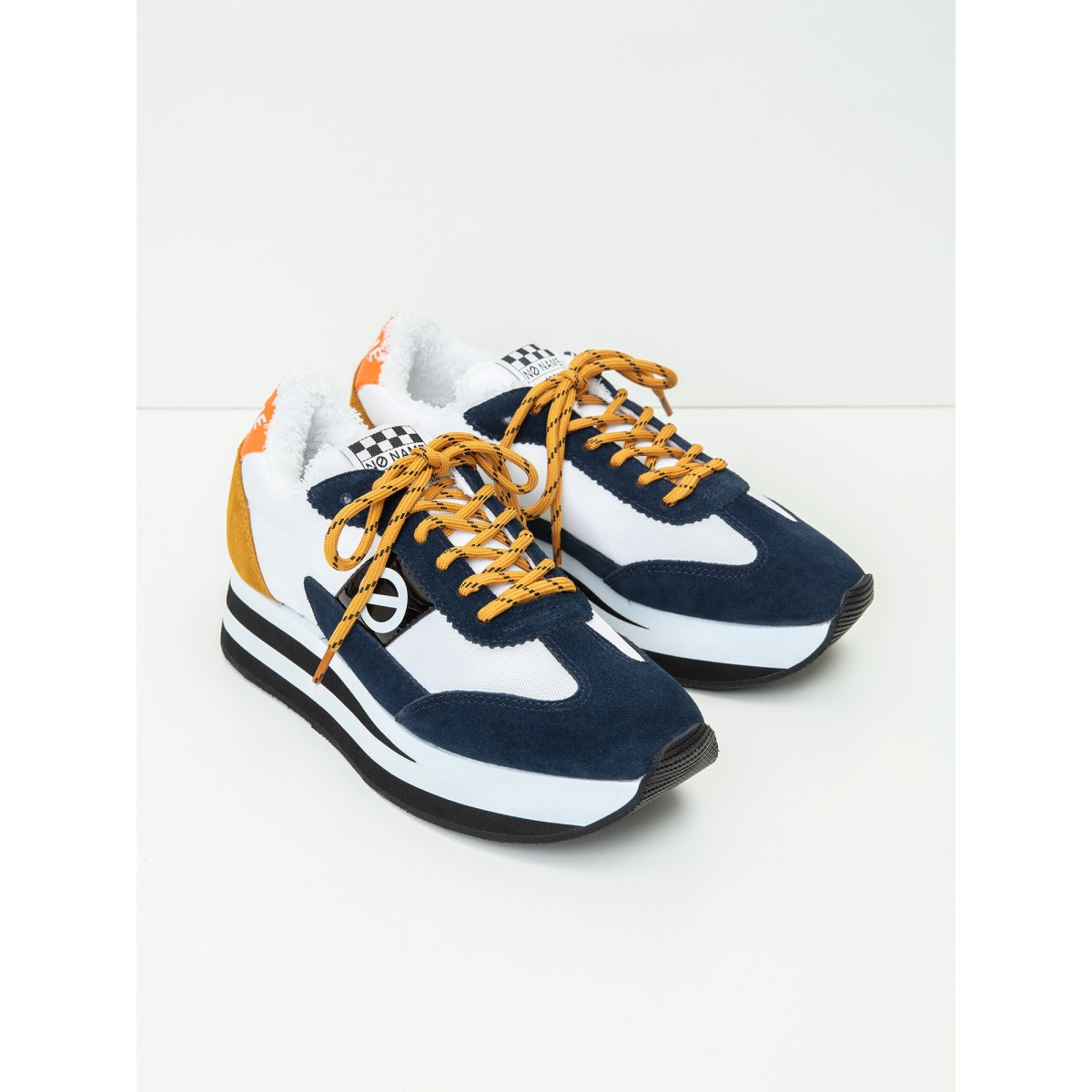 No Name Flex Jogger - Nylon/Suede - White/Navy