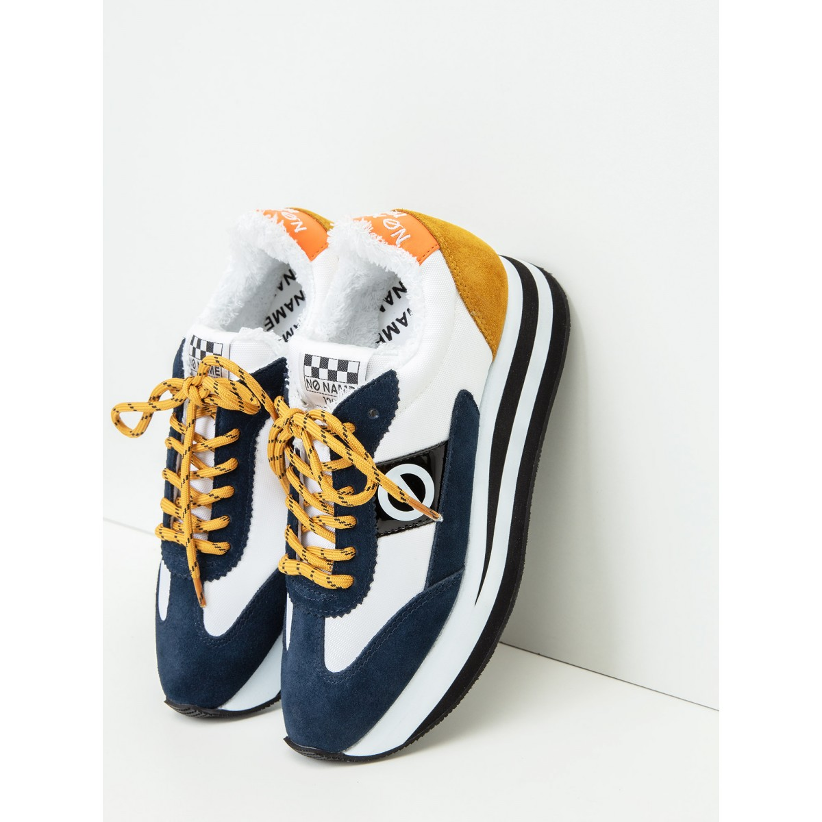 No Name Flex Jogger - Suede/Nylon - Navy/White