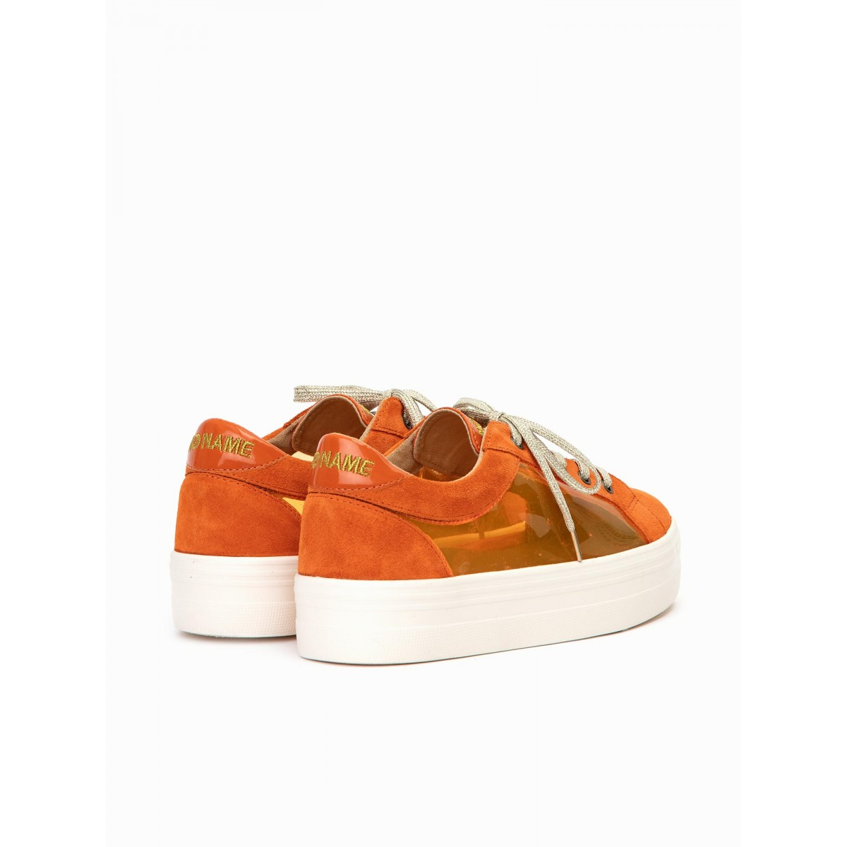 No Name PLATO BRIDGE - SUEDE/PLEXI - ORANGE/ORANGE