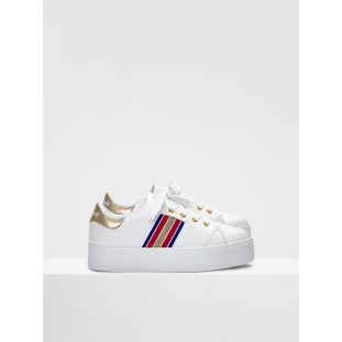 PLATO DERBY - NAPPA/CRACKLE - WHITE/GOLD FOX WHITE