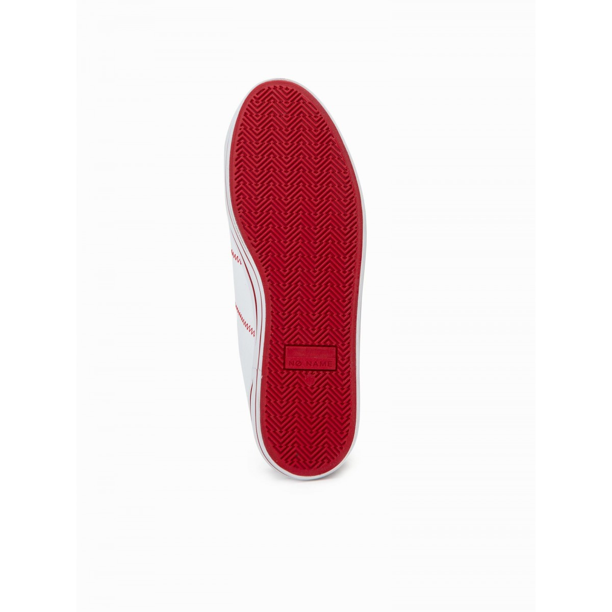 No Name MASTER SNEAKER - CANVAS - WHITE/RED