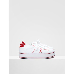 MASTER SNEAKER - CANVAS - WHITE/RED