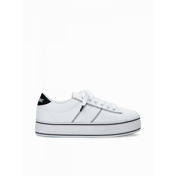 NO NAME MASTER SNEAKER - CANVAS - WHITE/BLACK