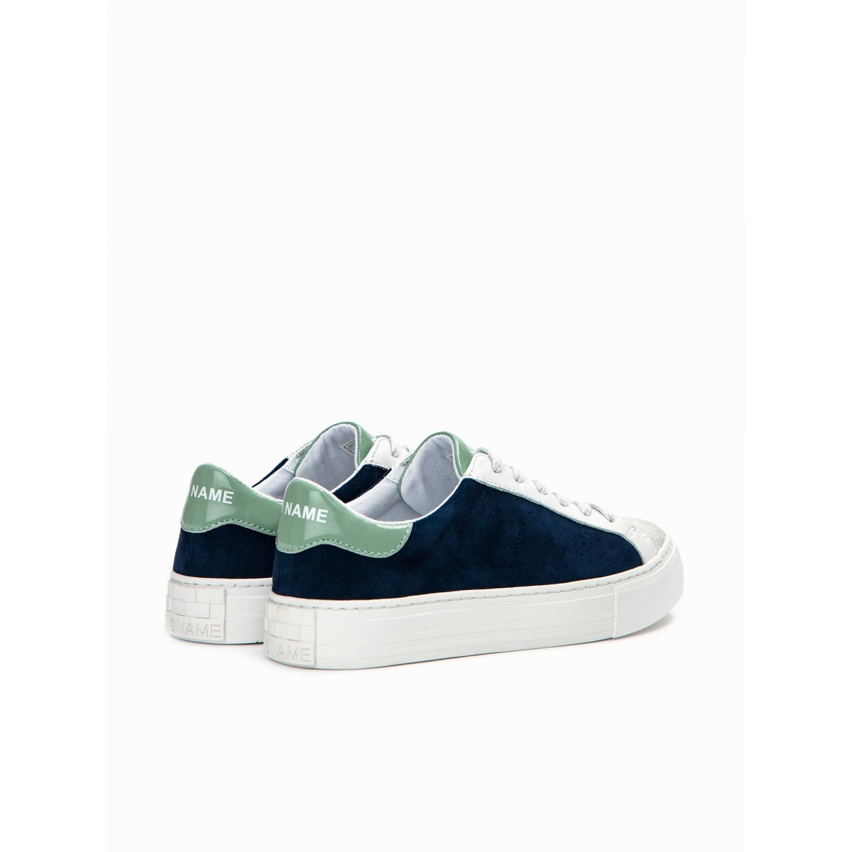 No Name ARCADE SNEAKER - GLOOM/G.SUEDE - SILVER/BLUE