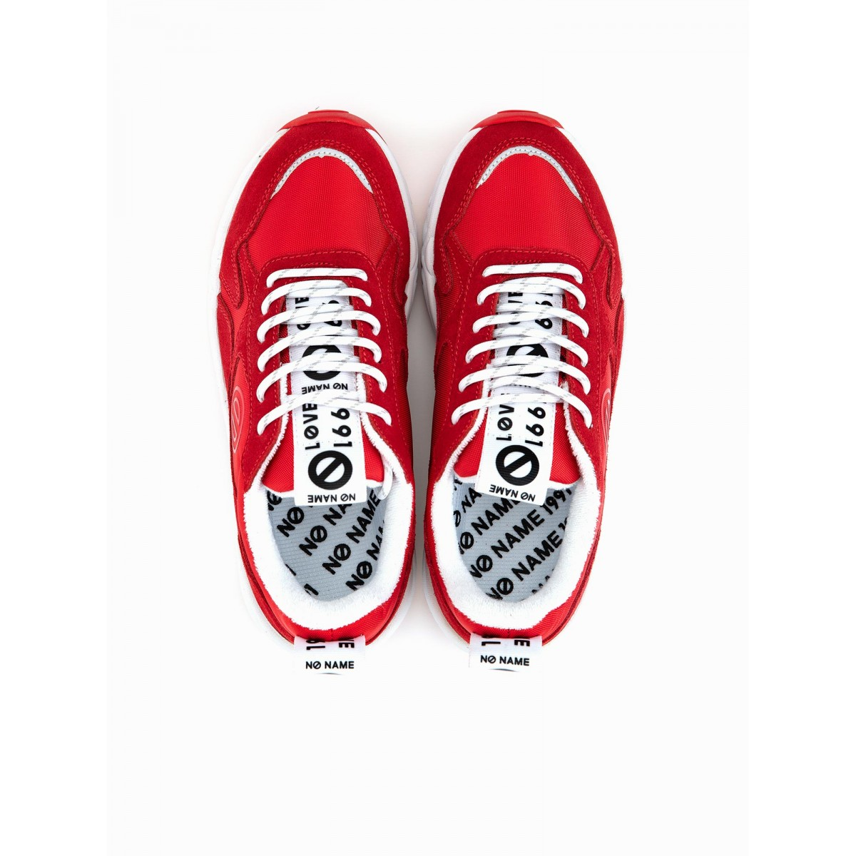 No Name NITRO JOGGER - NYLON/SUEDE - RED/RED
