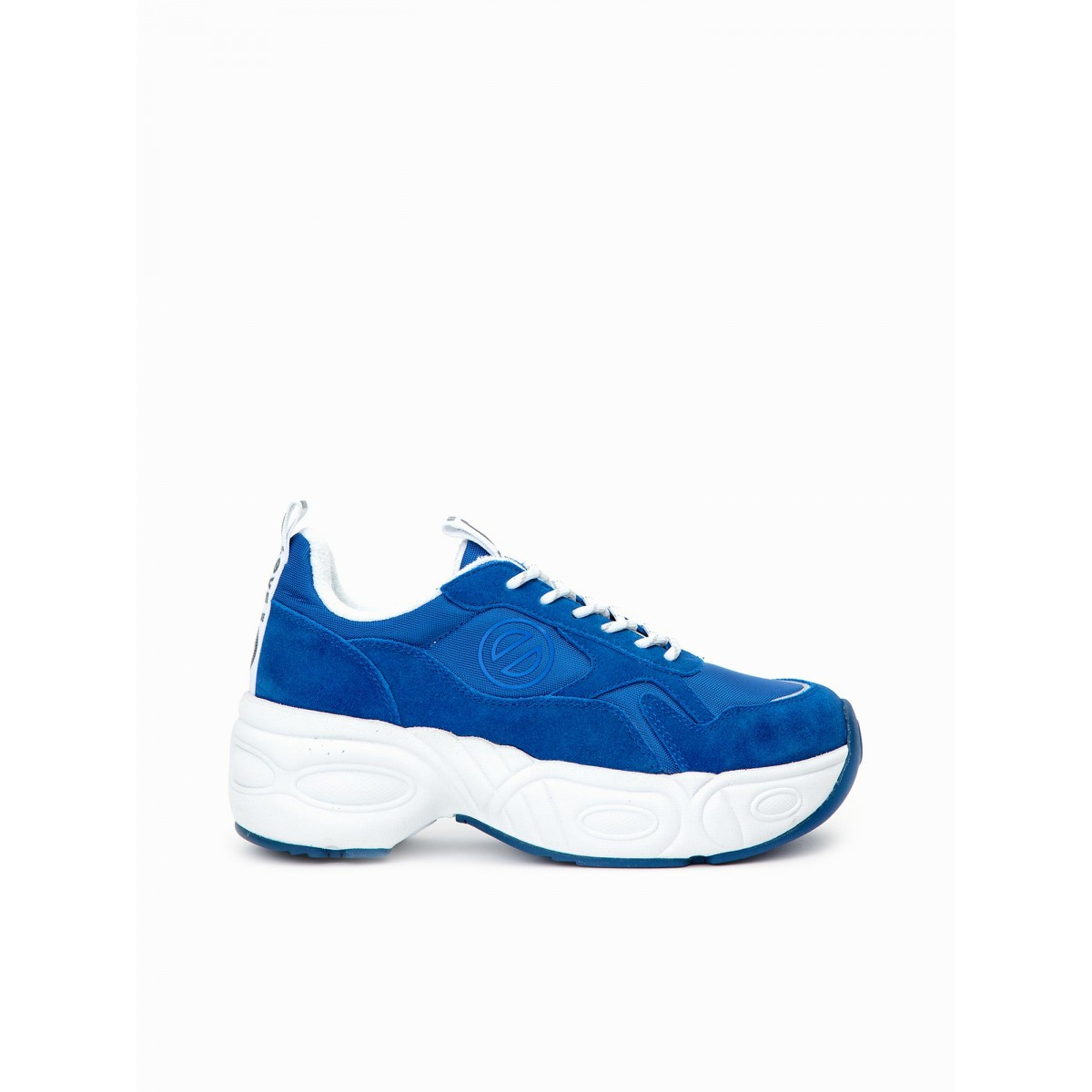 No Name NITRO JOGGER - NYLON/SUEDE - ELECTRIC BLUE/BLUE